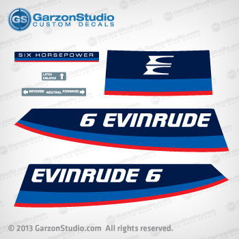 1975 Evinrude 6 Hp Decal Set 279810 Johnsondecals Com