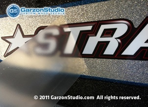 Stratos Boat decal installation