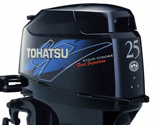 Tohatsu outboard Decals 25 hp four stroke fuel Injection