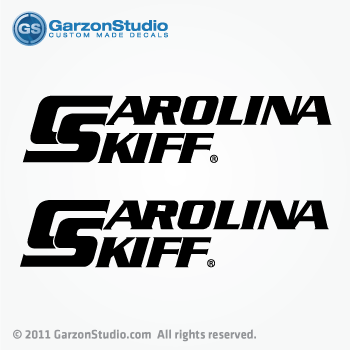 Carolina Skiff boat decals