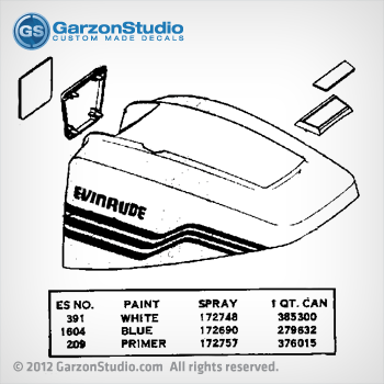 1977 Evinrude 15 hp decal set| JohnsonDecals com