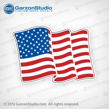 correct craft american waving flag decal