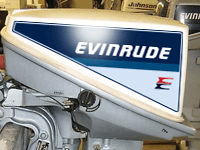 EVINRUDE Outboard decals 15 hp - 1974, 1985 mid 80's