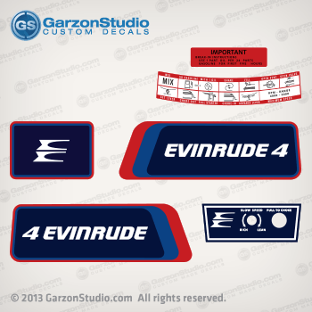 1976 Evinrude 4 Hp Decal Set 46b36 Belgium Johnsondecals Com