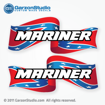 mariner outboard decals confederate flag, Rebel Flag, Dixie Flag