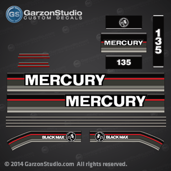 MERCURY 150 hp 1991 1992 1993 decal set  
