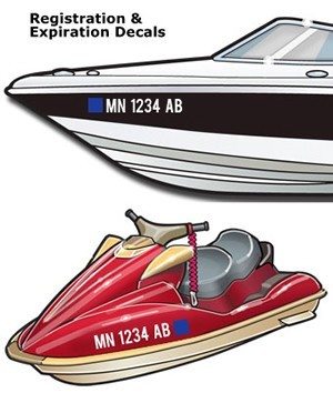 Registration Numbers Boat and jet ski