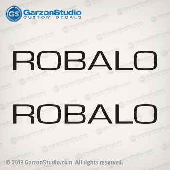 robalo letters word logo decal set hull decals stickers port side starboard side