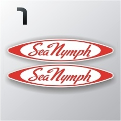 Sea Nymph Boat Decals 12 inches