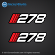 278 Decal set for Stratos boats from 1990-1993 1991 1992 2000 278 and others
