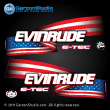 evinrude etec stars and stripes decals for blue H.O. engines