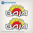 Baja Sun Rising decal set
