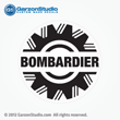 bombardier decal sticker white Johnson outboard motors