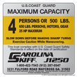 carolina skiff maximum capacity decals