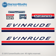 69 Evinrude Outboard 25 hp sportster 25hp decals Outboard Decal set 2 stoke 1969 motor 0279106 DECAL SET 25902B 25902D 25903B 25903D sticker stickers
