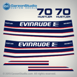 1974 Evinrude 70 hp hustler decal set 0279713 0279671 DECAL SET EVINRUDE 1974 70442M 70443M 70472M 70473M MOTOR COVER decals stickers sticker graphics labels