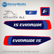 Evinrude Outboard decals 15 horsepower 1976 0279931