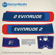 Outboard decals 2hp horsepower 1976 EVINRUDE 2 HP decal set