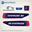 Evinrude Outboard decals 9.9 10 9.9hp 10hp hp horsepower 1976 279930