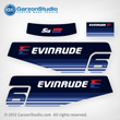 1979 Evinrude 6 hp decal set