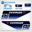 1979 Evinrude 9.9 hp / 10 hp decal set 9.9hp 10hp decals