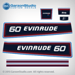 1981 Evinrude 60 horse power decal set hp 0281634 60hp