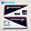 1981 EVINRUDE 9.9 10 HP SAIL DECAL SET nine nine 9.9hp 10HP H.P. HORSEPOWER