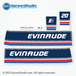 evinrude outboard decals 1983 20 hp horsepower 0282039