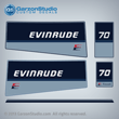 evinrude outboard decals 1985 75 hp 75hp horse power 0282246 DECAL SET 0210206 E70ELCRD E70TLCRD ENGINE COVER