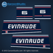 1992 1993 1994 1995 1996 EVINRUDE 6 hp decal set 6hp