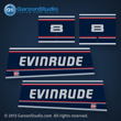 1992 1993 1994 1995 1996 EVINRUDE 8 hp decal set 8hp
