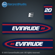 Evinrude Outboard decals 20 horsepower 1998-1999 BE20SRECB BE20SRLECB