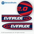 Evinrude Outboard decals 2 horsepower 1998-1999