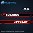 1998 evinrude 4 hp 4hp 4.0 hp outboards decals decal set sticker stickers