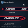 1998 1999 Evinrude Outboard decals 200 hp 200hp horsepower vindicator