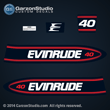 Evinrude Outboard decals 40 horsepower 1998