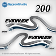 1999 2000 Evinrude Outboard decals 200 hp 200hp horsepower ficht direct fuel injection decal set