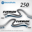 1999 2000 Evinrude Outboard decals 250 hp 250hp horsepower ficht direct fuel injection decal set