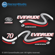 1999 2000 Evinrude Outboard decals 70 horsepower 4 stroke electronic fuel injection