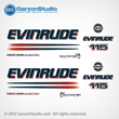 EVINRUDE 150 BOMBARDIER FICHT RAM INJECTION 2002-2005 decals set kit