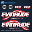 2003 2004 2005 Evinrude 225 hp decal set kit 0776290 DECAL SET, Flag Blue models FHL FHX