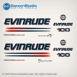 2004 2005 EVINRUDE 100 BOMBARDIER FICHT RAM INJECTION decals set kit