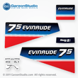 1980 Evinrude Outboard decals 7.5 horsepower 8 hp 0281463 DECAL SET