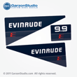 Evinrude Outboard decals 9.9 hp set