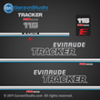 evinrude tracker outboard decals 1993 70 hp