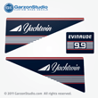 Evinrude Outboard decals 9.9 horsepower jachtwin