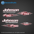 Johnson Outboard Decal set GT150 GT 150 v6 flames collection garzonstudio decals