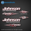 Johnson Outboard Decal gt150 gt 150 v6 flames collection garzonstudio decals