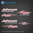 Johnson Outboard Decal set GT225 GT 225 v6 flames collection garzonstudio decals