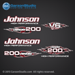 Johnson Outboard Decal gt200 gt 200 v6 flames collection garzonstudio decals